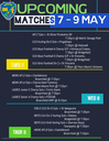 All Fixtures For The Coming Week 7 - 9 May