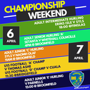 Championship Weekend Is Here!