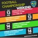FOOTBALL CHAMPIONSHIP WEEKEND