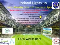 Healthy Club Ireland Lights Up Walk Each Thurs