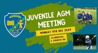 JUVENILE AGM - MON 9TH DEC 2019