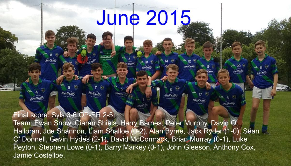 2015 U15 team