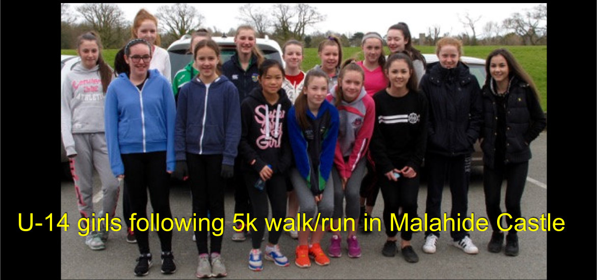 U14 walk fundraiser