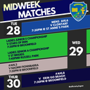 Midweek Matches 28 - 30 May